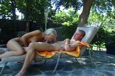 A Bikini Blonde Is Fucked Outdoors