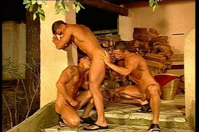 Italian Male Models In Strip and Fuck Contest On the Beach