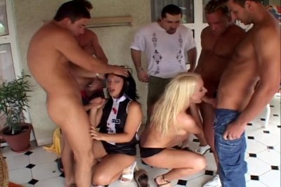 Perfect gang bang action in two scenes cover