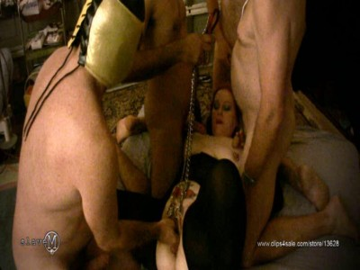 SlaveM  / clip4sale - Three tormentor fuck and torment their slave cover