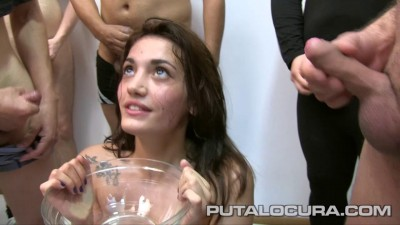 Teen Carlotta: her first bukkake