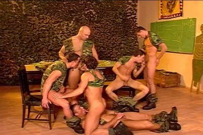 Service Men Slam Their Dicks In Each Others Fuck Hole.