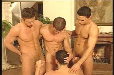 Cock-sucking and Fucking Party with 4 Yummy European Guys!