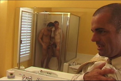 Hardcore Gay Anal Threesome In Shower cover