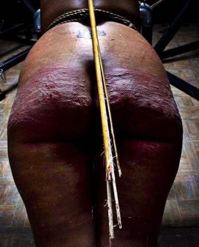 Extreme spanking in action