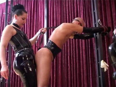 Mistress silvia trains slave to suck cock and eat cum 3