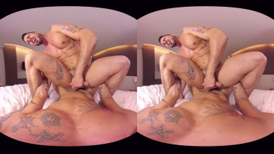 VirtualRealGay Vr180 - Tough Guys (Antonio Miracle and Mario Domenech; Flip Pov) cover