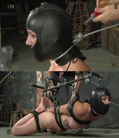 Extreme bondage, torture, suspension and hogtie for a young girl