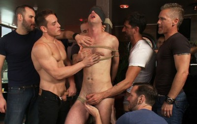 Muscle stud uses and abuses his boy in front of a horny lunch crowd cover