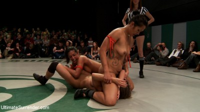 Round 2 of January's Live match:<br>The Dragon is humiliated,  sexually destroyed, cums on the mat!! cover