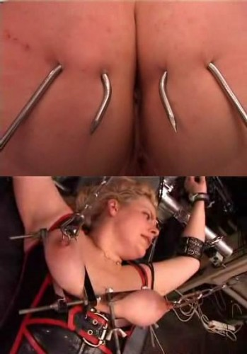Nipple and tit torture with hooks