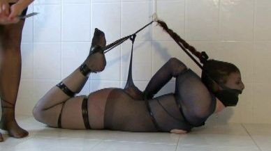 Pantyhose Hogtaped cover