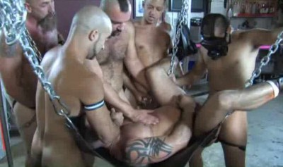 Rough Gangbang For Hungry Piss Whores