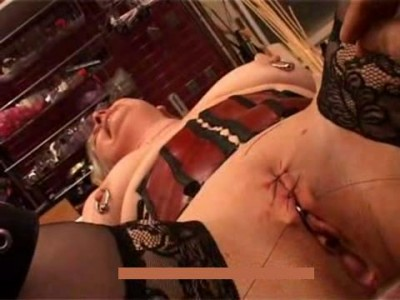 Stitching Labia And Tits Torture