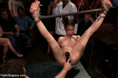 Adorable Jessi Palmer is Suspended by Just her Pigtails and Ankles and Fucked