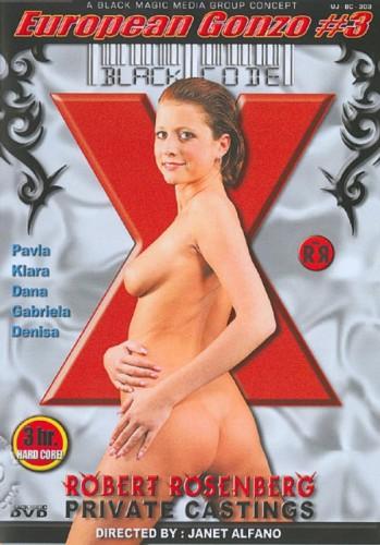European Gonzo #3 Robert Rosenberg Private Castings cover