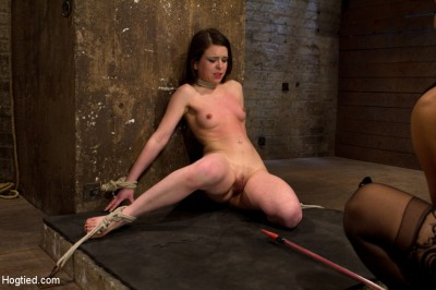 Predicament bondage as Juliette body is abused with pain & pleasure!  Multi-orgasms, pussy torture! cover