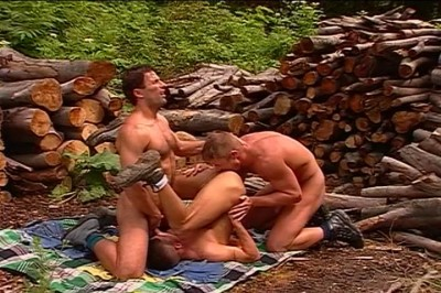 [Pacific Sun Entertainment]  Three Gay Guys Sucking Dicks In Timber Yard cover