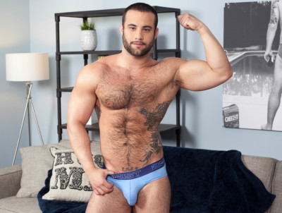 Dex Hammer is hung, furry and horny cover
