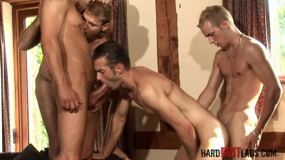 Hard Brit Lads - GangBang!! Pt 2 - Justin Harris, Leo Helios, Luke Desmond, Matt Brooks