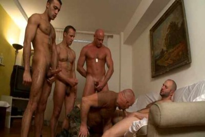 Military Fuckers In Orgy