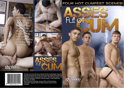 Asses full of cum (2010/DVDRip) cover