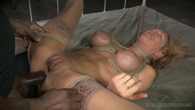Rain DeGrey Busty blonde Rain DeGrey bound and brutally cover