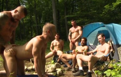 Group sex in nature cover