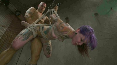 Young, tattooed slut gets fucked in all of her holes
