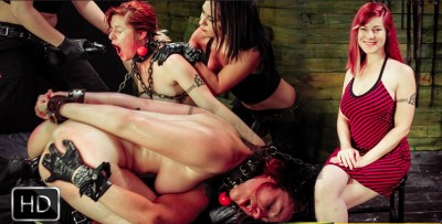 Pain Sub Slut Alessa snow Endures Lesbian domination with Kimber Woods & Isa Mendez