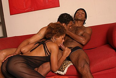Black And BiSex - A Black Bisexual Threesome Gets Hot. cover