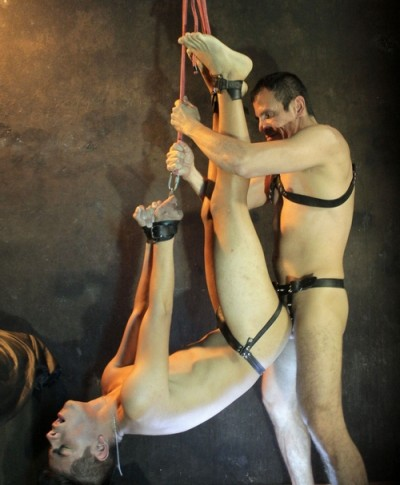 Twink Slave Ravaged Raw In All Sorts Of Suspension