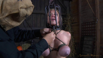 Darling Trained For Brutal Deepthroat In Headcage, Bent Over Strappado Fucked!