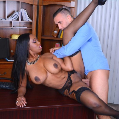 He Couldn't Resist The Secretary With Nice Big Boobs