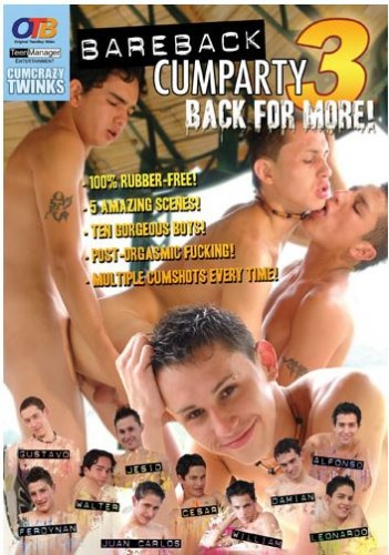 OTB Video - Bareback Cumparty 3 Back for More!