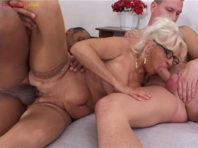 Blonde euro Granny castinged by BBC Tony