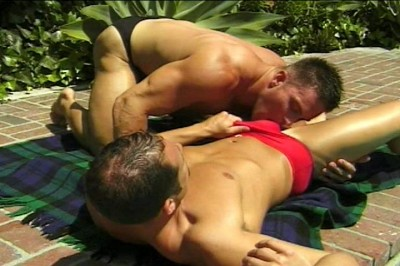 [Pacific Sun Entertainment] Sun Tanning Jocks In Speedos Screw By Pool cover