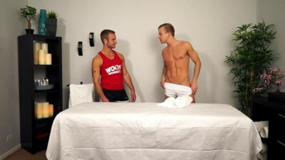 Straight college jock goes gay for Skylar West in hot massage fuck