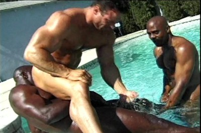 [Pacific Sun Entertainment] Three Hung Black Studs Suck Dickhead And Fuck Eachother cover