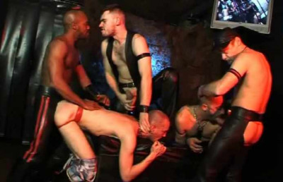Dirty Raw Gangbang With Leather Fuckers