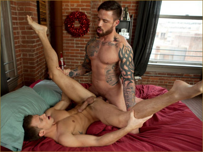 Brett Swanson and Jordan Levine ass fuck for the Holidays