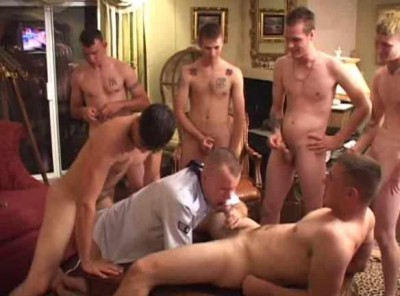 Rough Orgy For Str8 Soldier