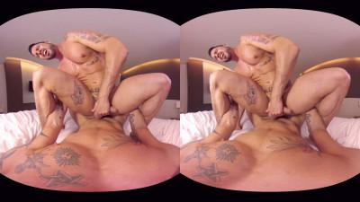 VirtualRealGay Vr180 - Tough Guys (Antonio Miracle and Mario Domenech; Flip Pov) cover