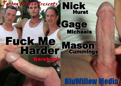 BluWillow Media – Fuck Me Harder Bareback HD (2013)