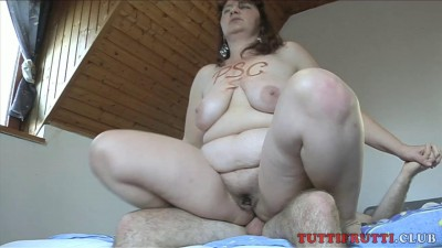 Fat Anna homemade anal cover