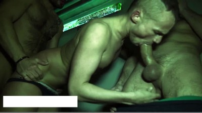 Yo gets filled up by two xtra hung guys cover