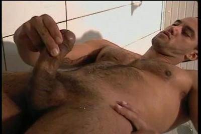 Carlo Morales Goes Solo In The Hot Shower Scene.