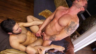 Gay porn star Tyler Wolf shoves cock deep inside persian bottom Shawn Abir cover