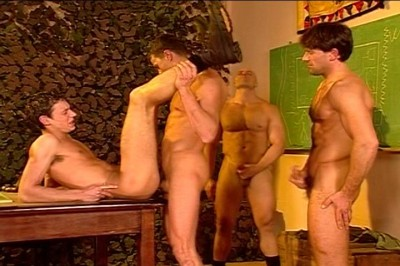 [Pacific Sun Entertainment]A Bunch Of Army Guys Enjoy An All Male Fuck Fest cover