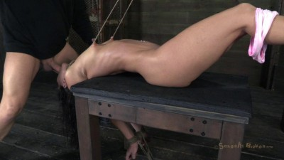 Wenona get roughly deep throated, her huge nipples bound so she must keep her legs raised!